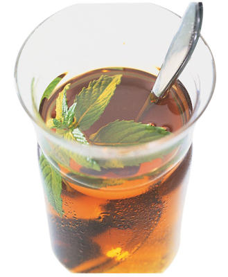 Photo: Peppermint tea - A great alternative to normal tea or coffee, peppermint has anti-spasmodic properties, and can ease IBS symptoms by calming the intestinal tract.