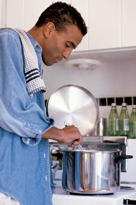 Photo: Home-cooking - Preparing meals at home allows you to choose the best ingredients and to use the healthiest cooking methods.