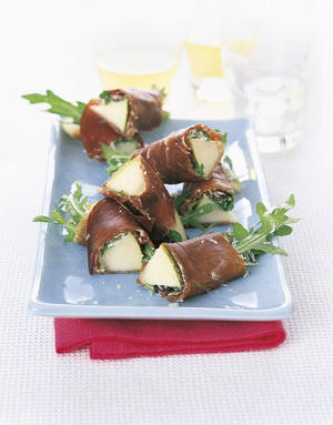 Photo: Bresaola and pear rolls