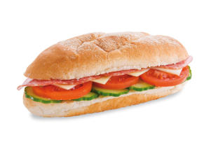 Photo: Heros - Also called hoagies, grinders, subs, and poor boys, these 2-handed sandwiches are small Italian or French loaves stuffed with a selection of thinly sliced meats, vegetables, and pickles.