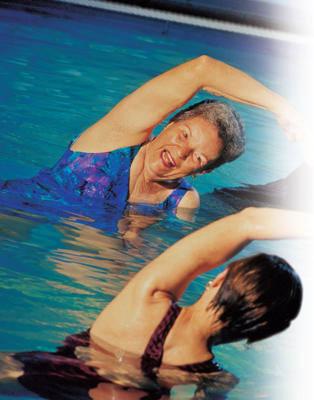 Photo: Joint-friendly exercise - Exercising in water minimizes stress on any joints affected by arthritis, while helping to maintain flexibility, strengthen muscles, and control weight.