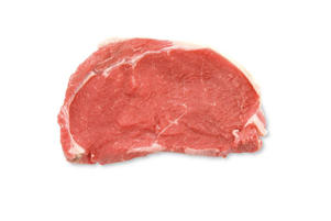 Photo: Sirloin Steak - A moderately expensive, boneless steak with a good flavor and tender texture. This steak is suitable for all cooking techniques.