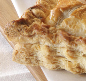 Photo: Rough puff pastry dough produces delicate layers of butter-rich pastry.
