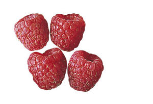 Photo: Raspberries - These should look plump and uniformly colored without any leaves or stems.