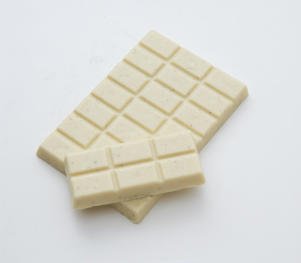 Photo: White Chocolate - Although not a true chocolate, this is still popular. It is usually made with cocoa butter, as well as sugar, milk, and vanilla. Excellent for fondues, and for flavoring tarts and cookies.