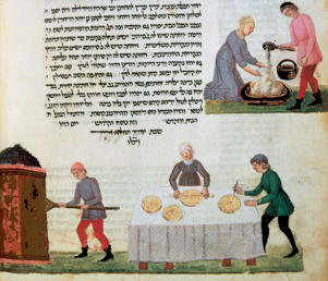 Photo: Preparing bread for a 17th-century festivity