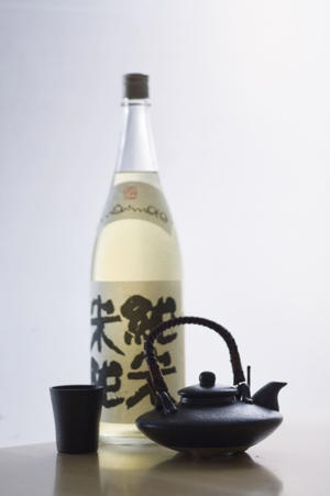 Photo: This is a Morimoto junmai sake, made from just rice and water.