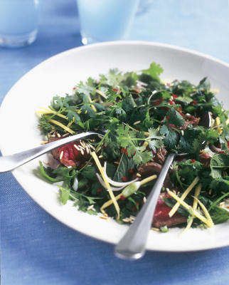 Photo: Hot and sour grilled beef salad