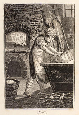 Photo: Baking day in a 19th-century English village