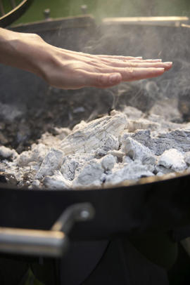Photo: All our grill recipes specify either a hot, medium, or low grilling heat, so to ensure success, it's important to check the fire's temperature before you put the food on the grill.