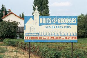 Photo: Wine advertisement in Nuits-St-Georges