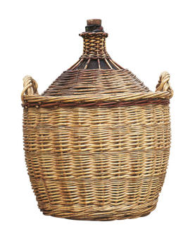 Photo: Wicker-covered bottle