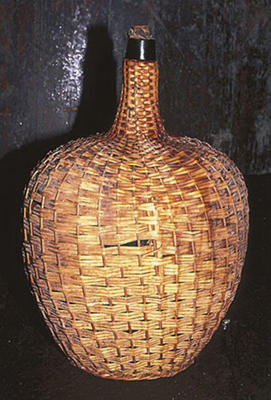 Photo: Wicker-covered madeira bottle