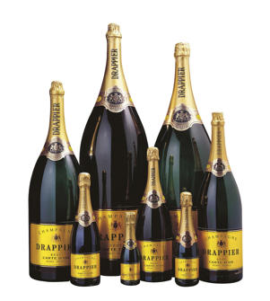 Photo: Various-sized bottles of Drappier champagne