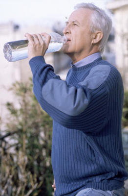 Photo: Water of life - To help you get into the habit of drinking more water, carry a bottle with you or have one on your desk at work.
