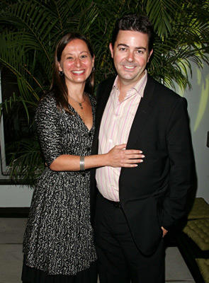Slide 1 of 25: Maud Nadler, Vice President HBO Films and Dennis O'Connor, Head of HBO Films Theatrical at the Maria, Llena Eres de Gracia premiere in New York City on July 13, 2004