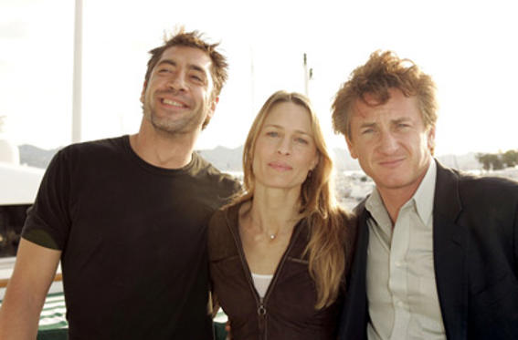 Slide 1 of 14: Javier Bardem, Robin Wright-Penn and Sean Penn