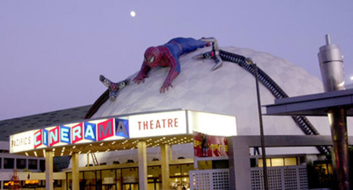 "Slide 1 of 13: Opening night of ""Spiderman ll"" display <a href=/artist/?artist=742045 Arg=""742045"" type=""Msn.Entertain.Server.LinkableArtist"" LinkType=""Page"">on top</a> of The Cinerama <a href=/artist/?artist=133772 Arg=""133772"" type=""Msn.Entertain.Server.LinkableArtist"" LinkType=""Page"">Dome</a> - Arclight Theatre's on Sunset Blvd."
