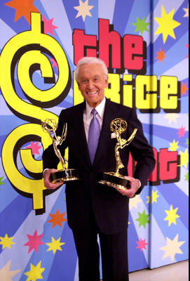 Slide 1 of 5: Bob Barker with his two Emmys  (one of the Emmys is for Best game Show Host and the other Emmy as Executive Producer)