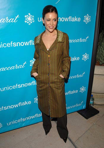 Slide 1 of 30: Alyssa Milano at the Baccarat and UNICEF Celebrate the 3rd Annual Lighting of Rodeo Drive