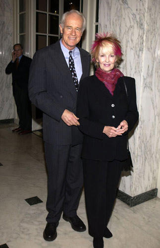 "Slide 1 of 17: Mike Farrell and wife Shelley Fabares at the ""Voices for Justice"" 2002 Human Rights Watch Annual Dinner"