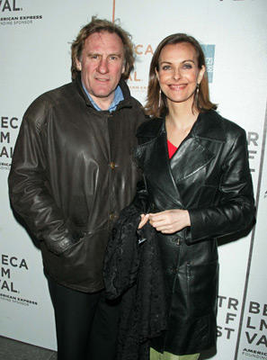 Slide 1 of 8: Gerard Depardieu and Carole Bouquet at the Red Lights premiere in New York City on May 06, 2004