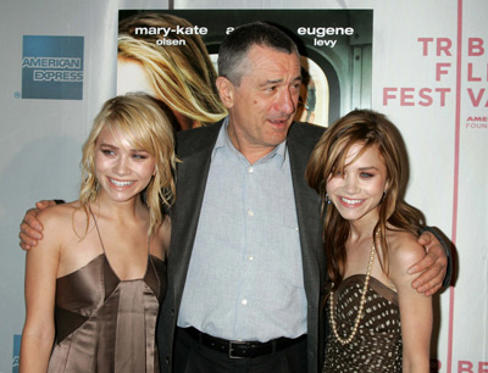 Slide 1 of 19: Ashley Olsen, Robert De Niro and Mary-Kate Olsen at the New York Minute premiere in New York City on May 04, 2004