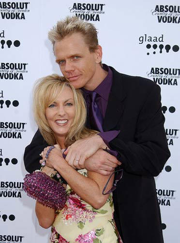 Slide 1 of 3: Christopher Titus and wife Erin at the 13th Annual GLAAD Media Awards - Los Angeles