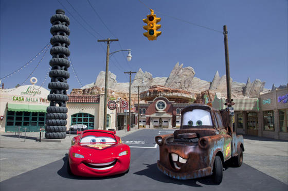 Slide 1 of 10: Route 66 and Radiator Springs