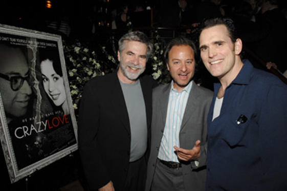 Slide 1 of 15: Dan Klores, co-director, Fisher Stevens, co-director and Matt Dillon at the Crazy Love premiere in New York City on May 22, 2007