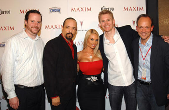 Slide 1 of 170: Ice-T (2nd from left) Coco and guests
