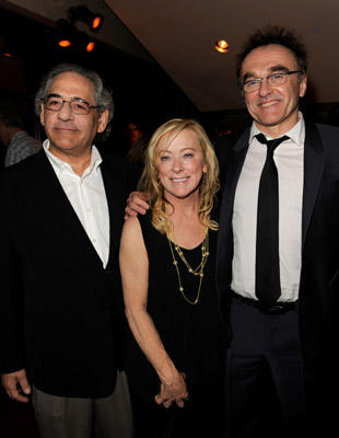 "Slide 1 of 14: (L-R) Fox Searchlight co-president's Steve Gilula, Nancy Utley, and writer/director/producer Danny Boyle attend the premiere of ""127 Hours"" after party at the Academy Of Motion Picture Arts and Sciences Samuel Goldwyn Theater on November 3, 2010 in Beverly Hills, California. at the 127 Hours premiere in Beverly Hills on November 02, 2010"