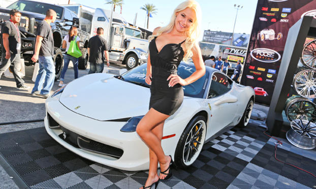 Slide 1 of 27: Models at the 2012 SEMA Show