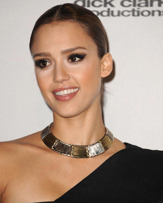 Slide 1 of 86: Jessica Alba poses in the press room at the 2010 American Music Awards held at Nokia Theatre L.A. Live on November 21, 2010 in Los Angeles, California.
