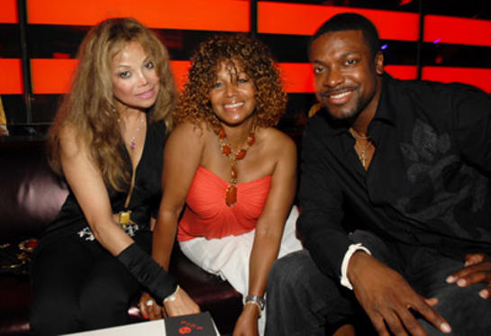 Slide 1 of 40: LaToya Jackson, Rebbie Jackson and Chris Tucker