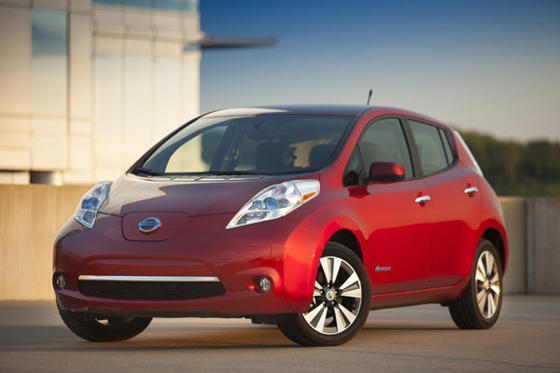 Slide 1 of 20: 2013 Nissan Leaf SL