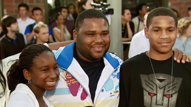 Slide 1 of 115: Anthony Anderson and family at the Transformers premiere in Los Angeles on June 27, 2007
