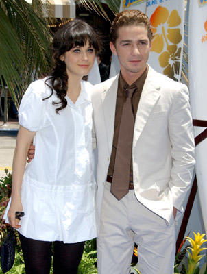 Slide 1 of 57: Zooey Deschanel and Shia LaBeouf at the Surf's Up premiere in Westwood on June 02, 2007