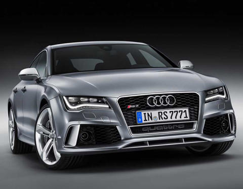 Slide 1 of 8: Audi RS7 - front