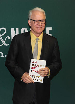 "Slide 1 of 12: Steve Martin promotes ""An Object Of Beauty"" at Barnes & Noble Union Square on November 23, 2010 in New York City."