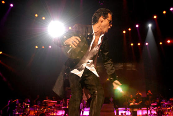"Slide 1 of 56: Singer Marc Anthony performs at the Staples Center during the ""En Concierto"" tour on October 19, 2007 in Los Angeles, California."