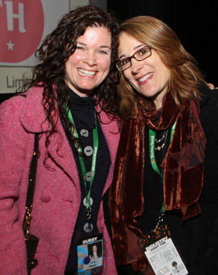 "Slide 1 of 7: Director Tricia Regan and producer Sasha Alpert attend the ""Autism: The Musical"" screening at the Palm Canyon Theatre on January 5, 2008 in Palm Springs, California."