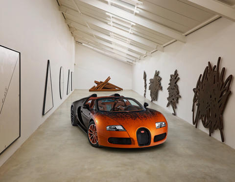 Slide 1 of 12: Bugatti Veyron Grand Sport Bernar Venet