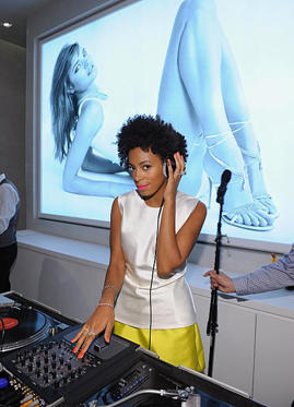 Slide 1 of 2: NEW YORK, NY - MARCH 28: Solange Knowles attends The Man Repeller event at Stuart Weitzman Boutique on March 28, 2012 in New York City. (Photo by Dimitrios Kambouris/WireImage for Stuart Weitzman)