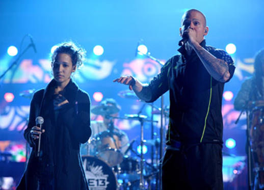 Slide 1 of 5: Singers Ileana Cabra Joglar aka PG-13 (L) and Rene Perez Joglar aka Residente of Calle 13 perform onstage during the 12th Annual Latin GRAMMY Awards Rehearsals Day 2 held at the Mandalay Bay Events Center on November 8, 2011 in Las Vegas, Nevada.