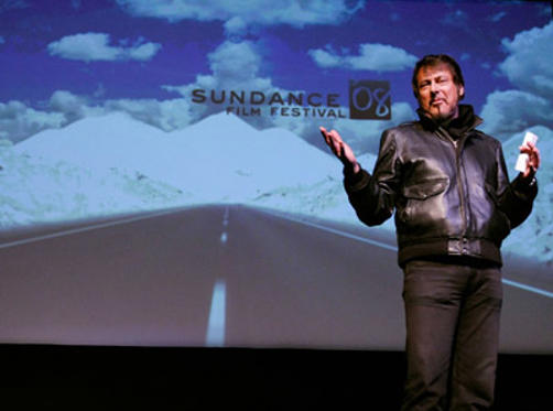 "Slide 1 of 17: Director Larry Bishop introduces his film ""Hell Ride"" at the Egyptian Theater during the 2008 Sundance Film Festival on January 21, 2008 in Park City, Utah"