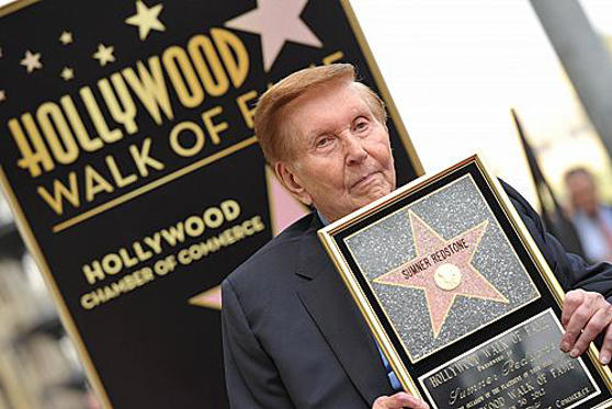 Slide 1 of 1: HOLLYWOOD, CA - MARCH 30: Sumner Redstone is honored with a star on The Hollywood Walk Of Fame on March 30, 2012 in Hollywood, California. (Photo by John Shearer/WireImage)