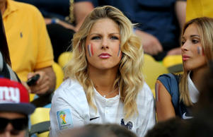Camille Tytgat, girlfriend of Raphael Varane of France, attends the World Cup ma...