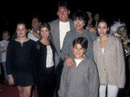 In the early days Bruce was the biggest star of the family. Here he is on the red carpet with Kris, Kim, Kourtney, Khloe and Rob.