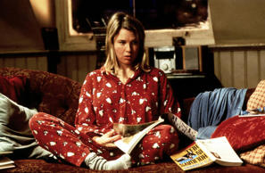 Renee Zellweger as Bridget Jones in the movie Bridget Jones's Diary